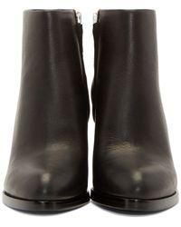 Alexander Wang | Black Notched Heel Gabi Ankle Boots | Lyst