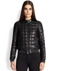 Burberry Brit - Black Boblington Quilted Leather Bomber - Lyst