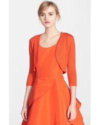 Oscar de la Renta - Orange Wool Blend Bolero - Lyst