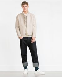 Zara | Natural Cotton Sweater for Men | Lyst