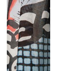 Temperley London - Blue Short Papillon Check V-Neck Kaftan - Lyst