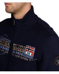 Napapijri | Blue Full Zip Ls Fleece for Men | Lyst