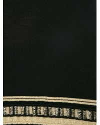 Roberto Cavalli - Black Striped Hem Knit Top - Lyst
