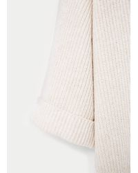 Violeta by Mango | Natural Cotton Wool-blend Sweater | Lyst