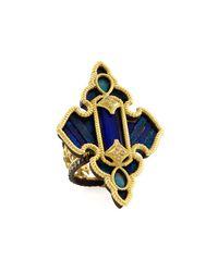 Armenta - Blue Lapis & White Quartz Doublet Cross Ring - Lyst