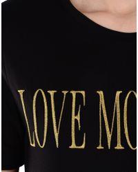 Love Moschino | Black Short Sleeve T-shirts | Lyst