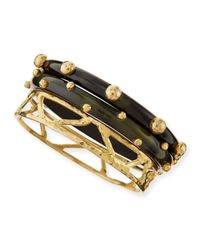 Ashley Pittman | Metallic Mwundo Dark Horn & Bronze Bangles | Lyst