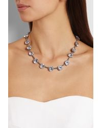Bottega Veneta   Metallic Oxidized Sterling Silver Cubic Zirconia Necklace   Lyst