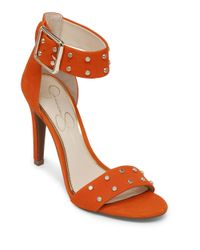 Jessica Simpson | Orange Elonna Leather Stilettos | Lyst