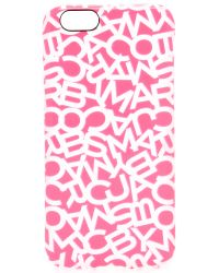 Marc By Marc Jacobs | Scrambled Logo Iphone 6 / 6s Case - Shocking Pink | Lyst