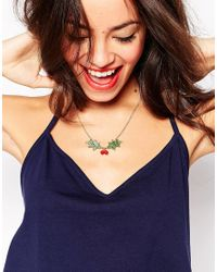 Tatty Devine | Green Holly Necklace | Lyst