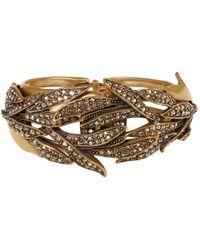 Oscar de la Renta | Metallic Gold-Tone Pave Spike Bracelet | Lyst