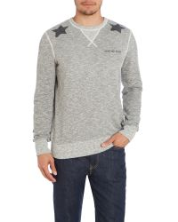 True Religion - Gray Print Crew Neck Pull Over Overhead for Men - Lyst