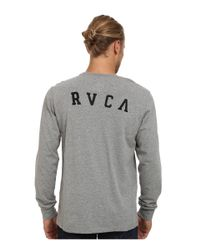 RVCA - Gray Chain Long Sleeve Crew for Men - Lyst