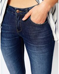 Mango | Blue Rinse Wash Low Rise Skinny Jeans | Lyst