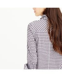 J.Crew | Purple Boy Shirt In Mini Gingham | Lyst