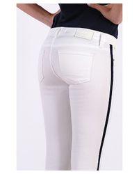 Henry & Belle - White Grosgrain Side Stripe Jean - Lyst