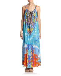 Camilla - Blue Take My Hand Drawstring Dress - Lyst