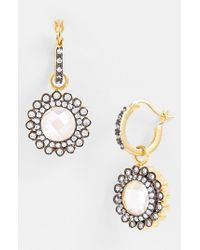 Freida Rothman | Metallic 'hamptons' Small Sunflower Drop Earrings | Lyst