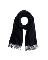 J.Crew | Blue Joshua Ellis Wool-cashmere Scarf In Chalk Stripe for Men | Lyst