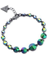 Guess | Metallic Hematite-tone Graduated Majestic Stone Bracelet | Lyst