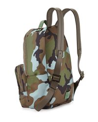Valentino - Green Mens Camo Nylon Backpack for Men - Lyst