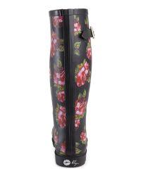 Betsey Johnson - Multicolor Black Floral Drizle Rain Boots - Lyst