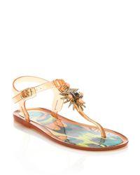 Ivy Kirzhner - Pink Jezabelle Jeweled Rubber Thong Sandals - Lyst