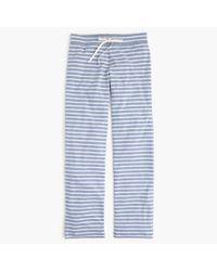J.Crew   White Dreamy Cotton Pant In Stripe   Lyst
