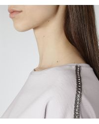 Reiss - Purple Molly Chain-detail Top - Lyst