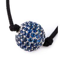 Shamballa Jewels   Black Rope Sapphire Bead Necklace   Lyst