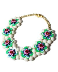 Shourouk | Narcis Xl Blue Necklace | Lyst