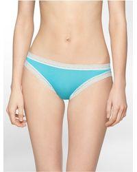 Calvin Klein | Blue Underwear Flourish Bikini | Lyst