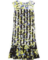 Peter Pilotto | Yellow Printed Crepe Dress | Lyst