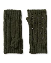 Banana Republic | Green Studded Fingerless Glove | Lyst