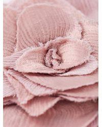 Lanvin - Pink Flower Brooch - Lyst