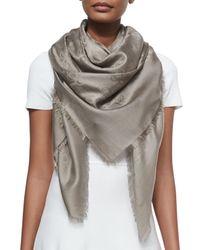 Gucci - Gray Urania Silk Jacquard Shawl - Lyst