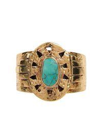 Cleobella - Blue Lyra Ring - Lyst