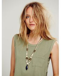 Free People | Blue Womens Chunky Bead Pendant | Lyst