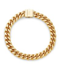 Rebecca Minkoff | Metallic Curbs Chain Collar Necklace | Lyst