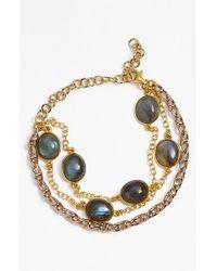 La Mer Collections | Metallic Labradorite Bracelet | Lyst