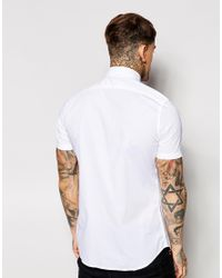 DIESEL - White Shirt Smu Short Sleeve Basic for Men - Lyst