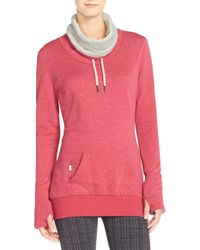 Bench | Red 'junction' Cowl Neck Pullover | Lyst