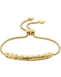 Monica Vinader | Metallic Esencia 18ct Gold-plated Scatter Chain Bracelet - For Women | Lyst