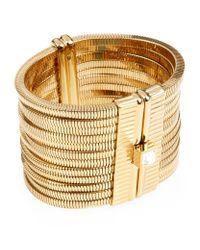 Lanvin | Metallic Cuff Bracelet | Lyst