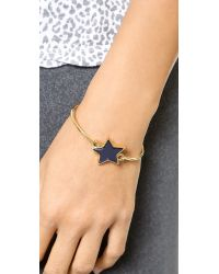 Marc By Marc Jacobs | Metallic Star Hinge Bangle Bracelet - Blue Mirror | Lyst
