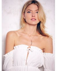Free People | White Stone Cold Fox Womens River Dress | Lyst