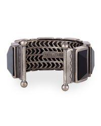 Rebecca Minkoff | Metallic Multicolor Stone Bangle Bracelet | Lyst