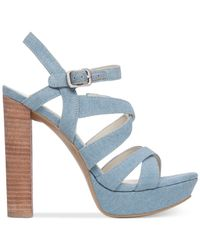BCBGeneration - Blue Morgan Strappy High-heel Sandals - Lyst