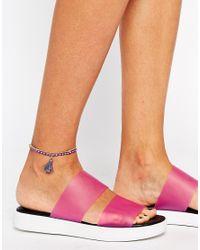 Rachel Roy | Metallic Bead Tassel Anklet | Lyst